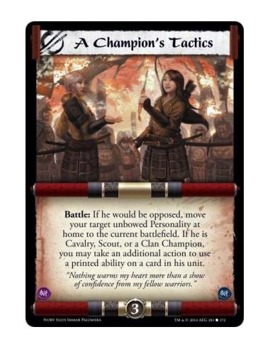 A Champion's Tactics FOIL