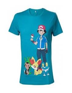 T-Shirt Pokemon Ash Ketchum