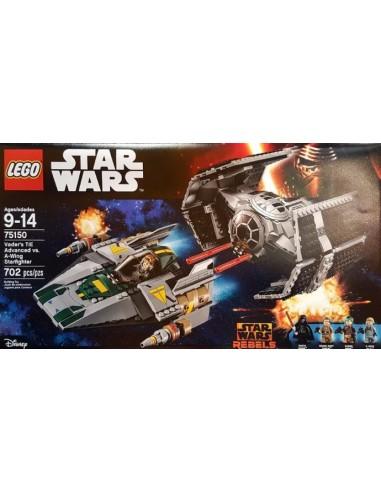 Lego TIE Advanced vs A Wing: 75150