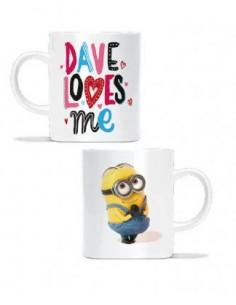 Minions mug Dave loves me