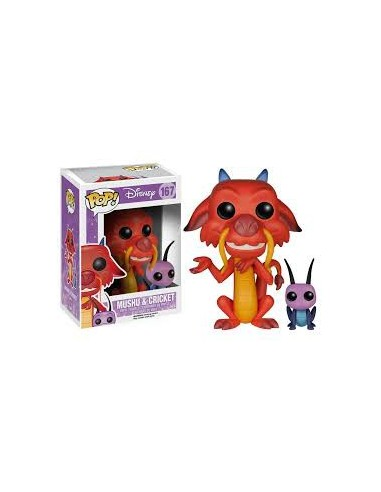 Pop Mushu & Cricket . Disney Mulan
