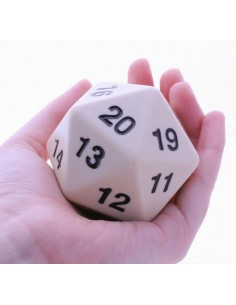 D20 Countdown Die White 55mm