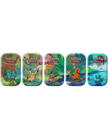 Pokemon JCC Kanto Friends Mini Tins.