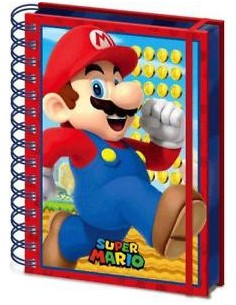 Spiral Notebook 3D Super Mario