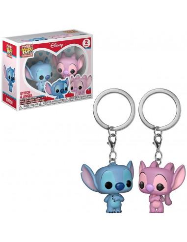 Llavero pop Stitch & Angel