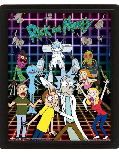 Poster 3D Rick and Morty