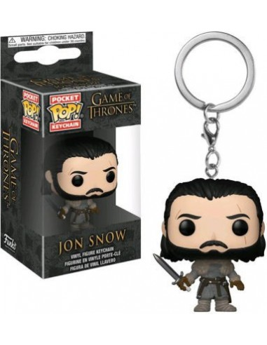 Keychain Pop Jon Snow Beyond the Wall. Game of Thrones