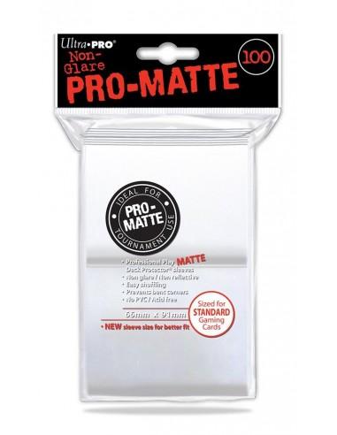 Sleeve Pro Matte White 100. (66x91 mm)