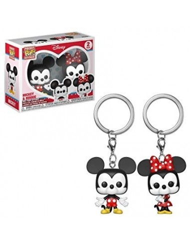 Keychain Pop. Mickey & Minnie