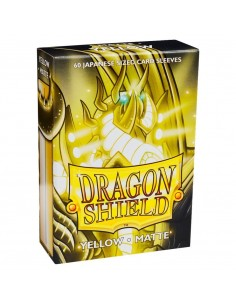 Dragon Shield Sleeves (59x86mm) - Yellow Matte (60)