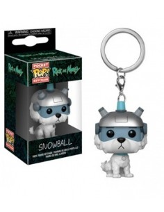 Keychain Pop  Snowball. Rick and Morty