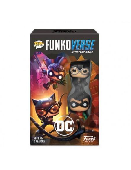 Juego de estrategia Pop Funkoverse Catwoman y Robin DC. Funkoverse