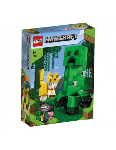 Lego. BigFig: Creeper y Ocelote. Minecraft