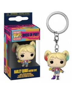 Keychain Pop Harley Quinn Caution Tape