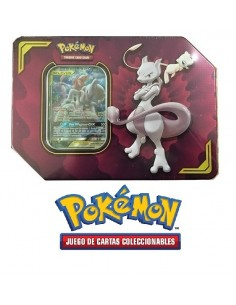 Tag Team Mewtwo and Mew GX Tin
