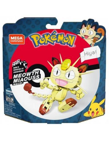 Meowth Mega Construx 169 Piezas Pokemon