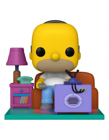 Homer watching TV. The Simpsons