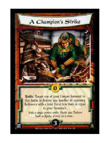 A Champion's Strike FOIL (Signed by...