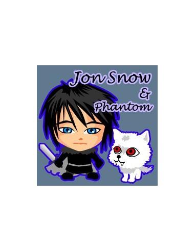Chapa Cuadrada Jon Snow and Phantom